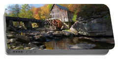 Portable Battery Charger featuring the photograph Glade Creek Grist Mill by Steve Stuller