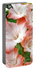 Gladiolus Ruffles  Portable Battery Charger by Rachel Hannah