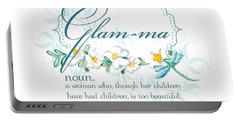 Glam-ma Grandma Grandmother For Glamorous Grannies Portable Battery Charger