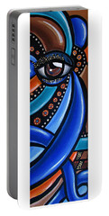 Abstract Eye Art Acrylic Eye Painting Surreal Colorful Chromatic Artwork Portable Battery Charger