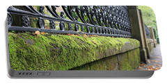 Portable Battery Charger featuring the photograph Glasgow Moss Fencing by Mary-Lee Sanders