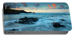 Glass Beach Dawn Portable Battery Charger by Mike  Dawson
