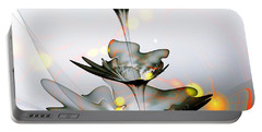 Portable Battery Charger featuring the mixed media Glass Flower by Anastasiya Malakhova