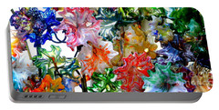 Glass Flower Garden In The French Quarter Of New Orleans Louisiana Portable Battery Charger by Michael Hoard