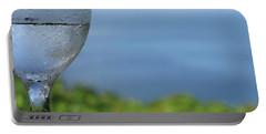 Glass Half Full Portable Battery Charger by JoAnn Lense