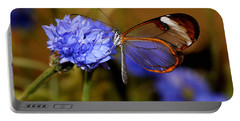 Glasswing Butterfly Portable Battery Charger