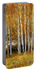 Gleaming Fall Aspens Portable Battery Charger