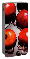 Gleaming Red Candy Apples Portable Battery Charger