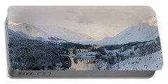 Glen Affric In The Snow Portable Battery Charger