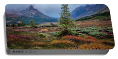 Glen Alps In The Autumn Rain Portable Battery Charger