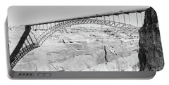 Glen Canyon Bridge Bw Portable Battery Charger