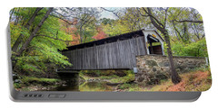 Glen Hope Covered Brige During Autumn Portable Battery Charger