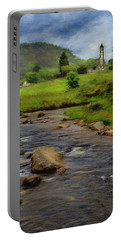 Glendalough In The Distance Portable Battery Charger by Jeff Kolker
