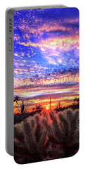 Portable Battery Charger featuring the photograph Glimmering Skies by Rick Furmanek