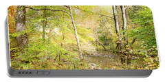 Glimpse Of A Stream In Autumn Portable Battery Charger