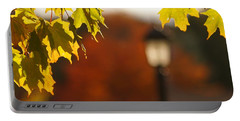 Portable Battery Charger featuring the photograph Glimpse Of Autumn by Aimelle