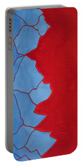 Glitch In The Matrix Original Painting Portable Battery Charger