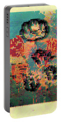 Glitched Tulips Portable Battery Charger