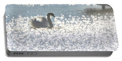 Glitz And Glamory Swan Portable Battery Charger