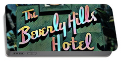Glitzy Beverly Hills Hotel Portable Battery Charger