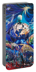 Planet  Earth - Our Family Tree Portable Battery Charger