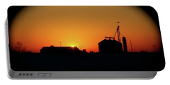 Global Sunset Portable Battery Charger by Sue Stefanowicz
