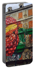 Portable Battery Charger featuring the painting Globe Building Art Painting by Sheila Mcdonald