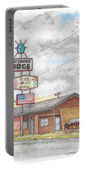 Globetrotter Lodge In Route 66, Holbrook, Arizona Portable Battery Charger by Carlos G Groppa