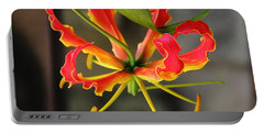 Gloriosa Lily Portable Battery Charger