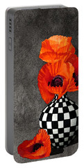 Glorious Poppies Portable Battery Charger