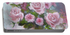 Glorious Roses Portable Battery Charger by Chris Hobel