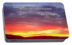 Portable Battery Charger featuring the photograph Glory And Praise  by Christina Verdgeline