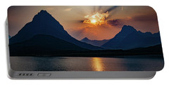 Portable Battery Charger featuring the photograph Glory At Many Glacier by Lon Dittrick