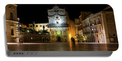Glossy Outdoor Living Room - St Lucy Church On Piazza Del Duomo In Syracuse Sicily Portable Battery Charger