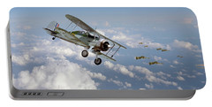 Portable Battery Charger featuring the digital art  Gloster Gladiator - Malta Defiant by Pat Speirs