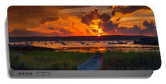 Gloucester Harbor Sunset Portable Battery Charger