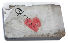 Portable Battery Charger featuring the photograph Glow Heart by Art Block Collections