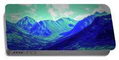 Glow In The Dark Alaska Mountains Portable Battery Charger