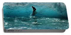 Glow Of The Surf Portable Battery Charger by Craig Wood