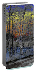 Glowing Aspens At Dusk Portable Battery Charger