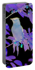 Glowing Cedar Waxwing Portable Battery Charger