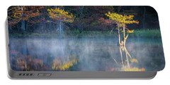 Glowing Cypresses Portable Battery Charger by Inge Johnsson