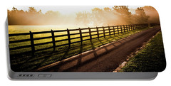 Portable Battery Charger featuring the photograph Glowing Fog At Sunrise by Shelby Young