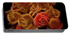 Glowing Golden Rose Bouquet Portable Battery Charger by Linda Phelps