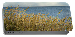 Glowing Grass By The Coast Portable Battery Charger