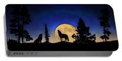 Portable Battery Charger featuring the photograph Glowing Horizon by Shane Bechler