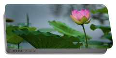 Glowing Lotus Lily Portable Battery Charger