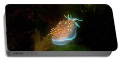 Portable Battery Charger featuring the photograph Glowing Nudibranch by Adria Trail