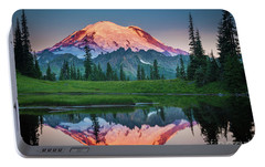 Glowing Peak - August Portable Battery Charger by Inge Johnsson