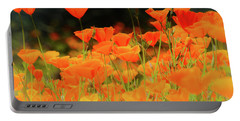 Glowing Poppies Portable Battery Charger
